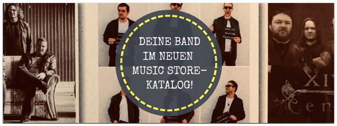Deine Band im nächsten MUSIC STORE-Katalog