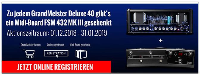 Hughes & Kettner: FSM 432 MKIII gratis zu jedem GrandMeister Deluxe 40