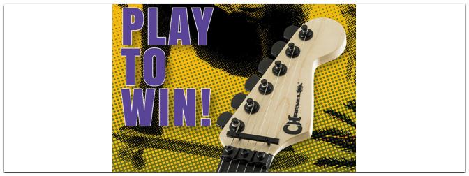 Play to win: Gewinnt eine Charvel-Gitarre im Wert von über 900€!