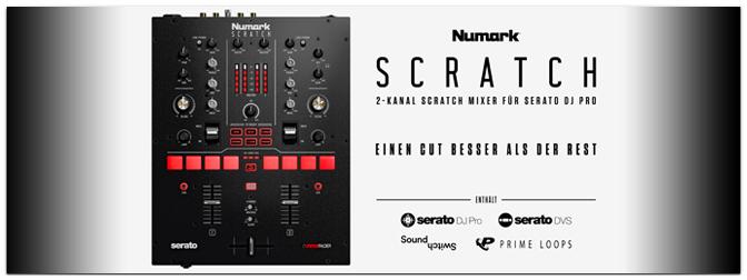 NUMARK bringt den SCRATCH Profi-Battle-Mixer für Serato DJ Pro!