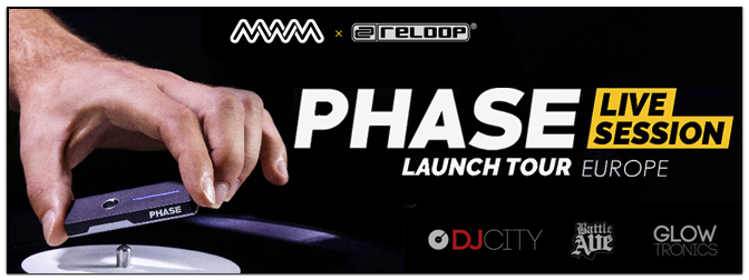 MWM SAS – Phase Live Session Tour mit Reloop am 05.09.2018!