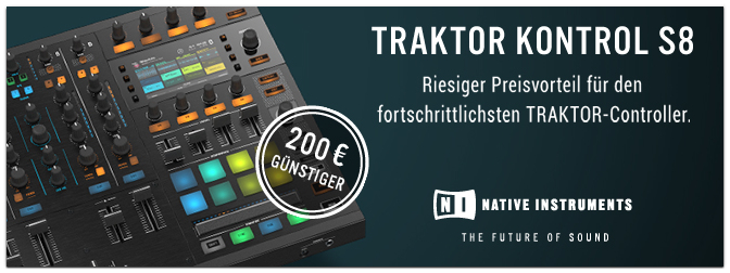 Native Instruments – TRAKTOR KONTROL S8 – SPECIAL!