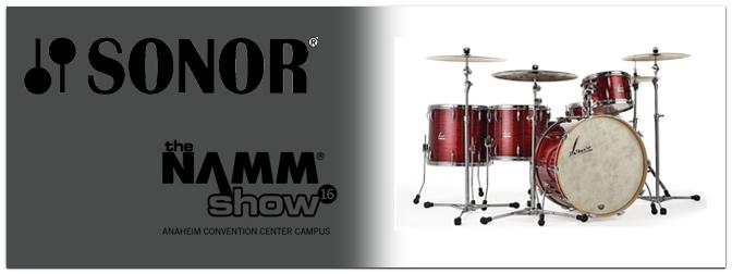 NAMM Show 2016 – Sonor erweitert Vintage Serie!