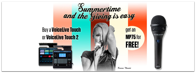 TC Helicon VoiceLive Touch MP75 GiveAway Aktion