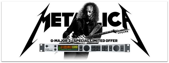 SONDERPREIS TC Electronic G-Major 2 und Metallica Gewinnspiel