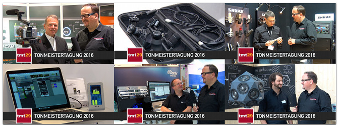 Technik-Highlights von der Tonmeistertagung 2016 tmt29