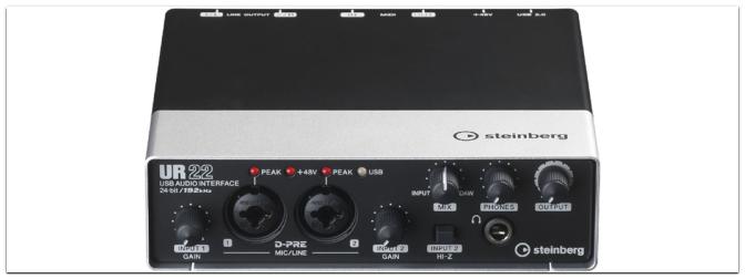 Steinberg erweitert die UR-Serie mit dem UR22 USB Audio Interface
