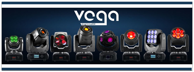 Die neuen lightmaXX Moving Heads der VEGA-Serie