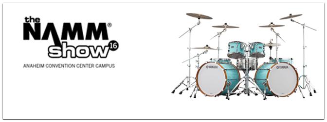 NAMM SHOW 2016 – Yamaha zeigt Recording Custom und neue E-Drums!
